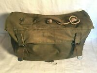 WWII BOYT 1944 Canvas US Army RUBBER LINED Musette Bag RUCKSACK FIELD Bag