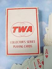 Vintage TWA AIRLINES Deck of Playing Cards FORD TRI-MOTOR 1929 Bridge Size