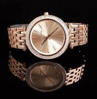 Original Michael Kors Uhr Damenuhr MK3192 Darci Edelstahl in Frabe:Rose Gold NEU
