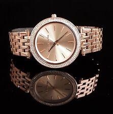 Original Michael Kors reloj fantastico mk3192 darci acero inoxidable en taza: Rose oro nuevo