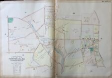 1900 MONTGOMERY COUNTY, PA, MERION SQUARE & CRICKET CLUB, COPY PLAT ATLAS MAP