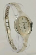Vtg 1970s Faber 835 Solid Silver Ladies Bracelet Bangle Wrist Watch AS 1977 Cal