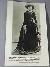 1950 RPPC Postcard/Reprint Belle Starr; Bandit Queen