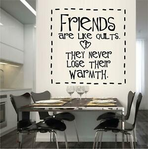 """Friends are Like Quilts Vinyl Decal Home Décor 12"""" x 11"""""""