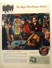 Wurlitzer Juke Box Advertising Music Vintage Phono Graph Records 1940's 1950's