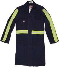Flame Resistant Lab Coat Fr Navy Blue Hi-Vis Reflective Atpv 12.4 167Us9 Small