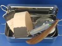 Geschenk Set Rasiermesser mit Box Abziehleder und Rasierschale + Solingen Paste