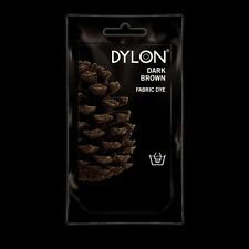 Dylon DARK BROWN HAND DYE 50g Pack Fabric Cotton Linen Clothes Material Jeans