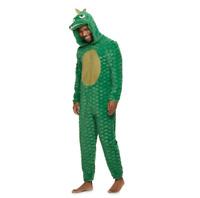 Men's Size Large Dinosaur Hooded One Piece Pajama Costume Up-Late NWT $60 Kohl's