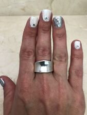 Stunning Vtg 925 Sterling Silver Abstract Design Ring