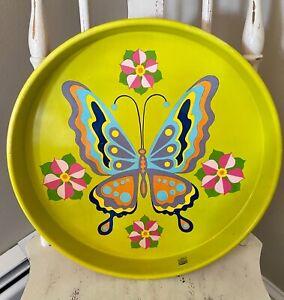 Cheinco Vintage Retro Butterfly Tray Metal