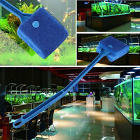 2Pcs Aquarium Fish Tank Algae Cleaner Glass Plant Easy 2 Head Cleaning Brush