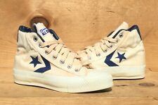 Vintage 1970s Converse All Star II White/Blue Canvas Made In The USA Size 5