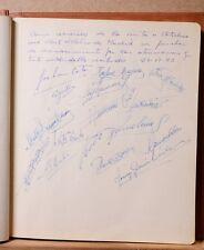 FC Atletico de Madrid Equipo Autografo 21 VI 1953 Muy raro Team Authograph Rare