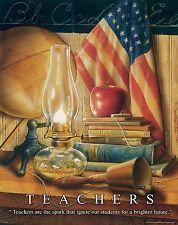 School Teacher Motivational Poster Art Print Gift Classroom Supplies MVP319