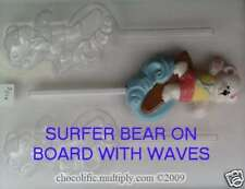 Chocolate Mold - S016 Surfer Bear on Board with Waves
