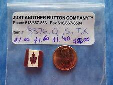 JABC button #3376.Q - Square Folk Art Canadian Flag