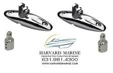 """2 QUICK RELEASE Bimini Top Swivel Hinge Stainless Steel SS w/ 2 7/8"""" SS Eye Ends"""