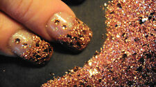 glitter mix acrylic gel nail art   crafts    LEOPARD