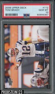 2008 Uppper Deck #112 Tom Brady New England Patriots PSA 10 GEM MINT