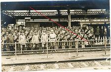 Fotokarte Bahnhof ULM ? Soldaten WWI 14/18