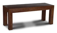 DINING ROOM FURNITURE MANHATTAN DARK SOLID MANGO 130CM BENCH (H46D)