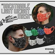 4PK Variety! Face Mask Paisley Breathable Reusable Washable Protection Cover