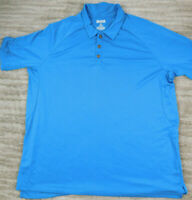 Duluth Trading Mens Polo Shirt 3XL Blue Trim Fit Polyester Short Sleeve