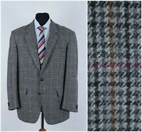 Mens YVES GERARD UK 44R Vintage Check Houndstooth Tweed Jacket Sport Coat Blazer