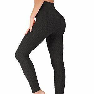 Sz. L Push Up Scrunch Butt Leggings Yoga Pants Anti Cellulite FAST FREE SHIP!