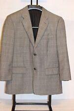 Tasso Ella Angelico 42R Men's Pow Check Vented Solid Sport Suit Jacket  Korea EC
