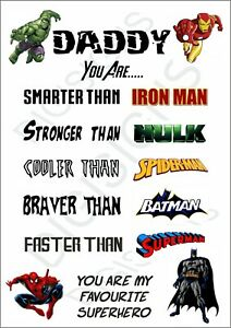 Fathers day Sign - You are my favourite superhero - Avengers, Dad, Daddy, batman