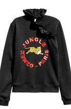 IN HAND Kenzo x H&M Black Ladies Frill Collar Tiger Sweatshirt - XS / XSmall