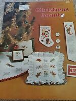 Vintage Christmas Counts Counted Thread Cross Stitch Book 3 angel Santa elves