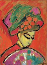 Young Girl with a Flowered has Alexei Jawlensky of Flowers Hat Compartments B a3 00389