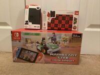 Mario Kart Live Home Circuit LUIGI Edition Set Nintendo Switch Lite ACCESSORIES