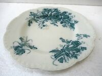 "Antique Ceramic Platter Dish Irene Johnson Bros England Printed Collectibles""F42"