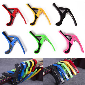 Quick Change Clamp Key Acoustic Classic Guitar Capo ForElectricAcoustic-Guita`hw