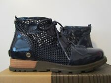 df02b3ab12a2 NIB Womens Sorel Major Lace Up Ankle Fashion Boots Wedge Booties - Navy