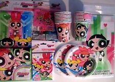 POWER PUFF GIRLS Birthday Party Supply DELUXE Kit w/ Balloons