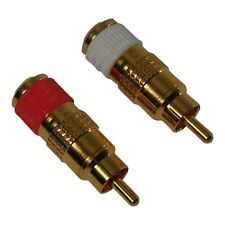 Stop Hum! Thorens RCA Plug Replacements, Pair. TD-160 TD-165 Turntable & more
