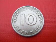 RAR DM 10 Pfennig Bank Deutscher Länder 1949 F vz RAR