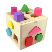 Kids Baby Educational Toys Wooden Building Block Toddler Toys Early Learning Toy