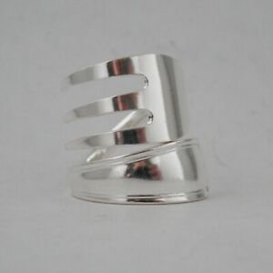 Sterling Silver Fork Ring Hallmarked Handmade Antique Sterling Silver dated 1928
