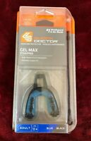 New SHOCK DOCTOR Gel Max Strapped Adult Mouth Guard Blue Black