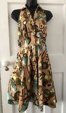 River Island Dress Size 8 Vintage Style Halter Neck With Button Front Collar