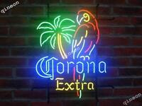 RARE NEW Style Corona Extra Parrot Palm Tree Neon Sign Home Beer Tiki Bar Light
