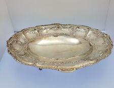 ♦♦ Schale in 800er Silber Oval Halbmond Krone Silberschale 28 x 23 x 5 cm 4 Füße