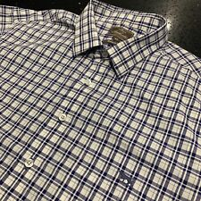 Rodd & Gunn XL Short Sleeved Check Blue Button Shirt SPORTS FIT In NEAR New Cond