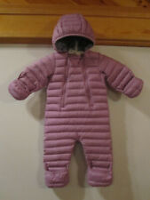 Infant LL BEAN Ultralight 650 Down Bunting Snowsuit Mittens Booties LILAC 3-6mo